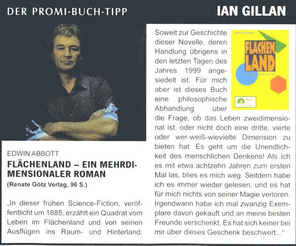 """Ian Gillen über """"Flächenland"""" von Edwin Abbott"""